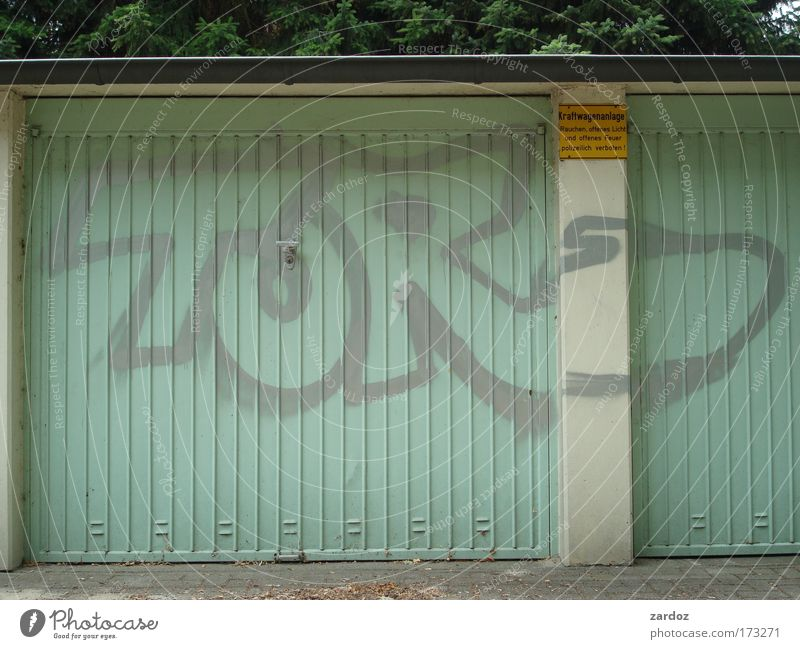 Goal! Subculture Authentic Simple Fresh Funny Turquoise Inspiration Whimsical Garage Garage door Wordplay Language Closed Keyword Photos of everyday life Joke