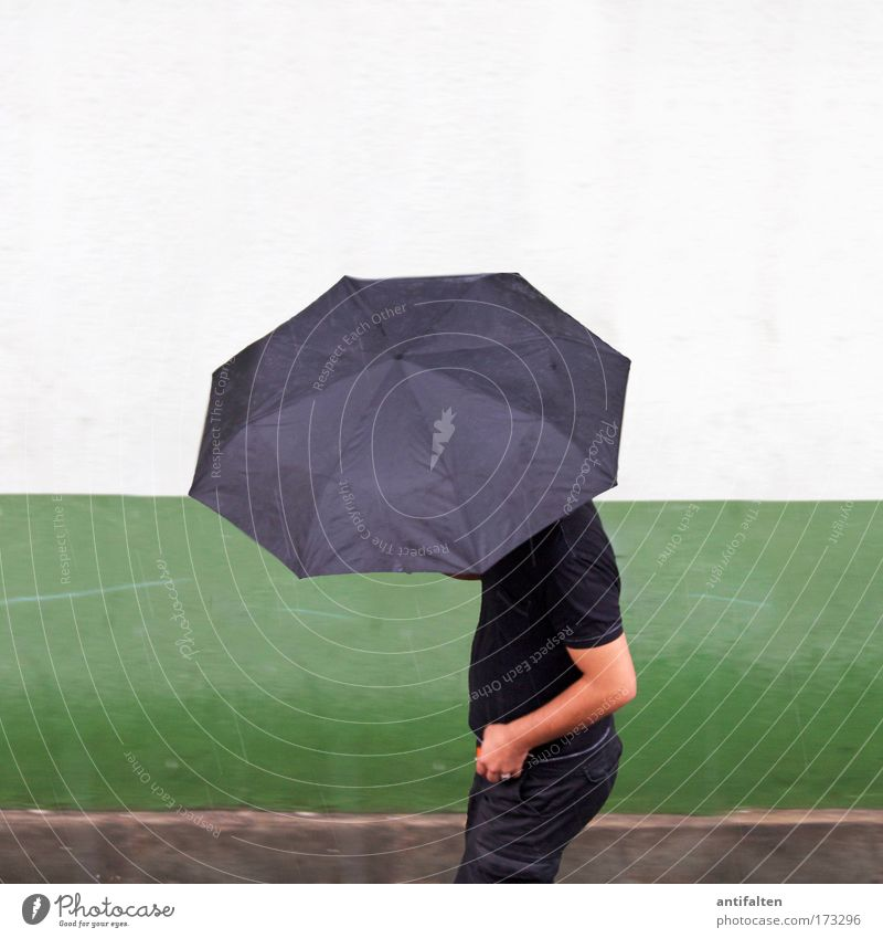 Man In Black Human being Masculine Adults Arm 1 Weather Bad weather Storm Wind Gale Rain Thunder and lightning House (Residential Structure) Wall (barrier)