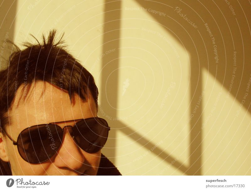 porn star Window Portrait photograph Man Head sunglasses Shadow