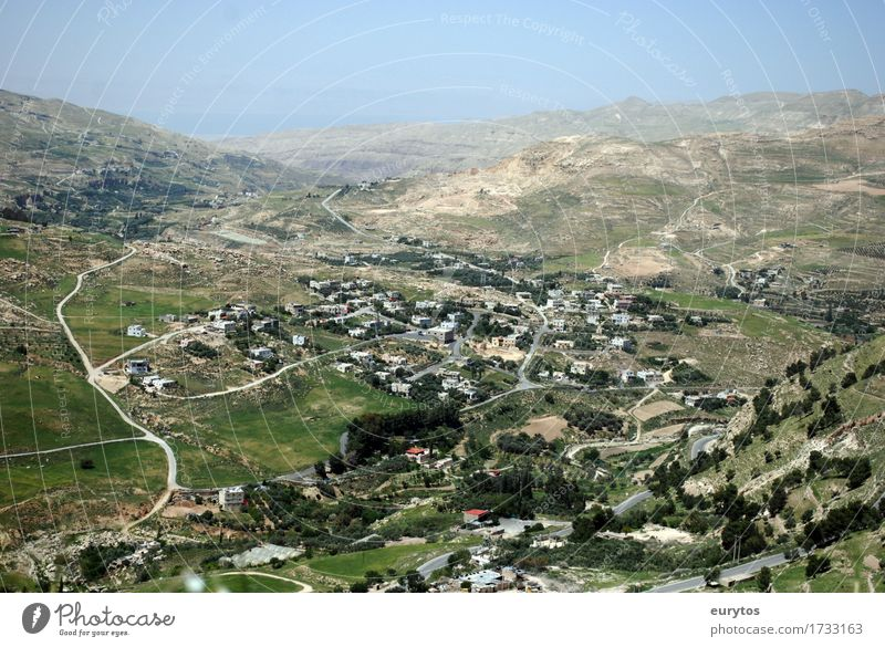 Kerak / Jordan Environment Landscape Sky Spring Summer Climate Climate change Weather Beautiful weather Village Small Town Populated Build Hiking Tourism