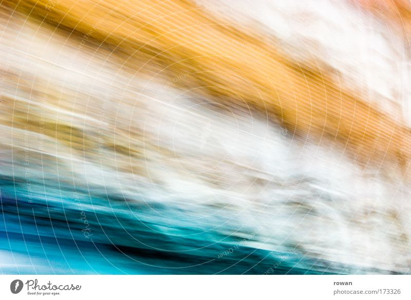blurred Colour photo Exterior shot Experimental Abstract Pattern Structures and shapes Neutral Background Blur Motion blur Driving Play of colours Orange Blue
