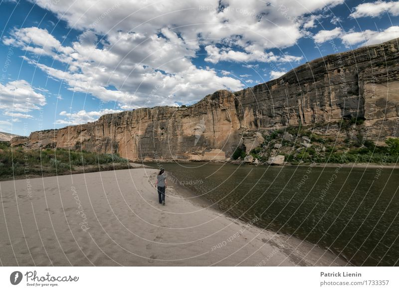 Green River Beautiful Vacation & Travel Tourism Adventure Summer Mountain Human being Woman Adults 1 Environment Nature Landscape Sky Clouds Climate