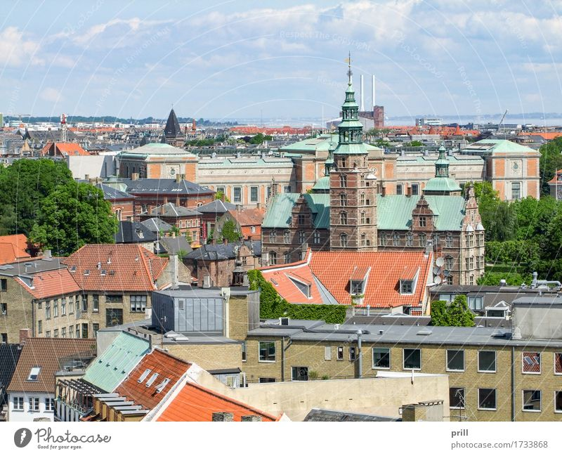 Copenhagen in Denmark Culture Town Capital city Tower Manmade structures Building Architecture Above Tradition increased viewing angle Europe Scandinavia voyage