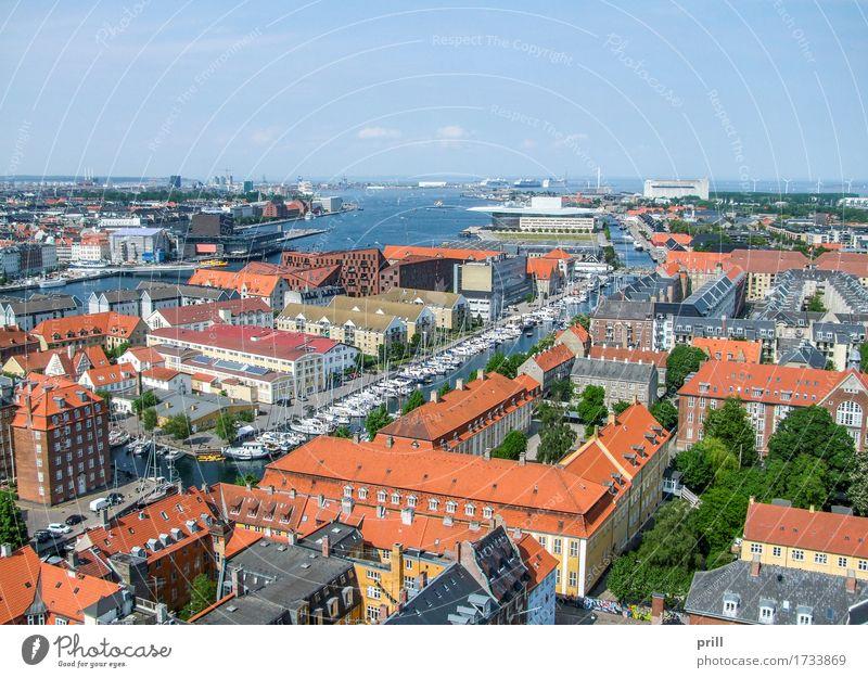 City Ocean Architecture Coast Building Above Europe Culture Manmade structures Harbour Capital city Tradition Scandinavia Denmark Copenhagen
