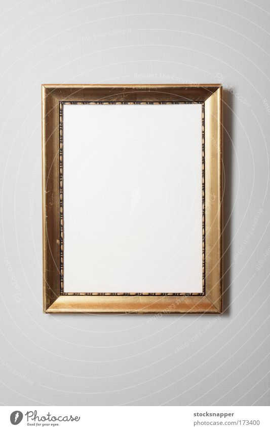 Frame Old Photography golden Dirty worn Vintage nobody Wall (building) Blank Background picture Object photography
