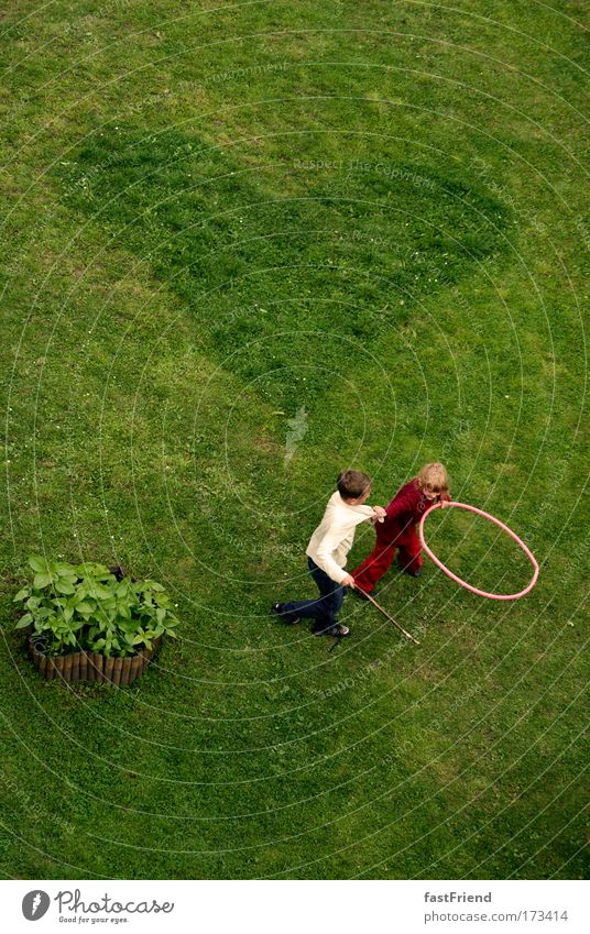 Human being Child Green Girl Joy Playing Boy (child) Grass Movement Laughter Couple Friendship Infancy Earth Together Heart