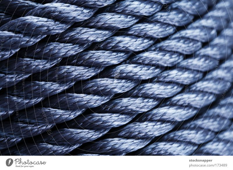 Rope Blue Synthetic Background picture Consistency Diagonal Roll Close-up fibers Nylon
