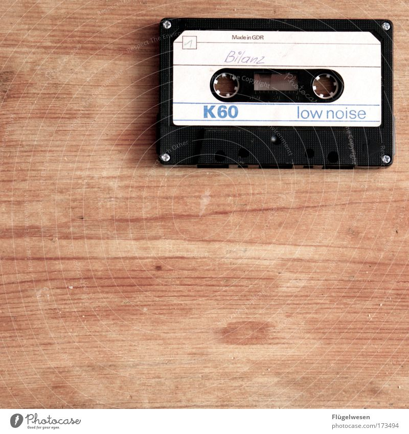 Wood Think Germany Music Power Lifestyle Success Table Hope Euphoria GDR Artist Enthusiasm Optimism Musical notes Tape cassette