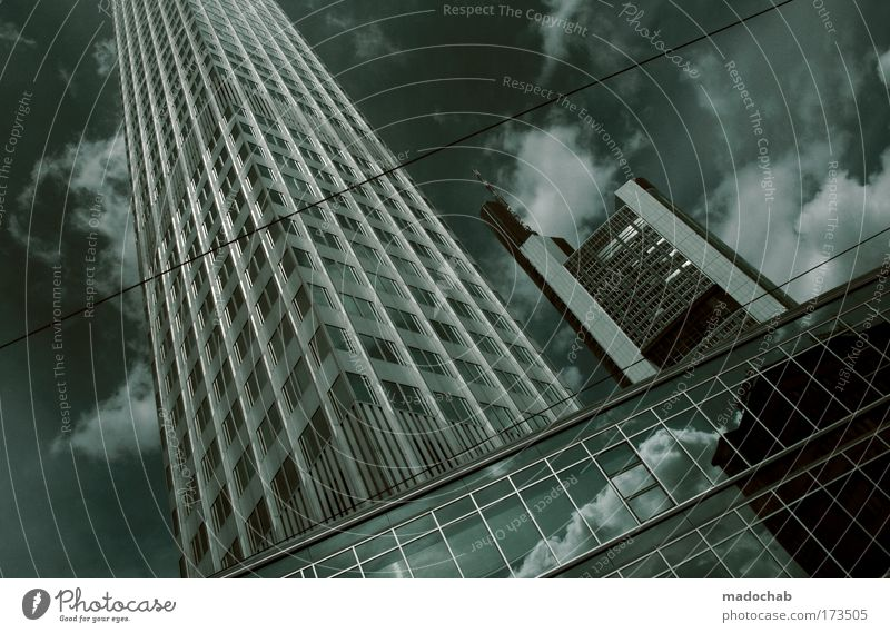 Only the dumb envy the red-seeds. Frankfurt Town High-rise Bank building Building Architecture Skyline Fear Stress Work and employment Business