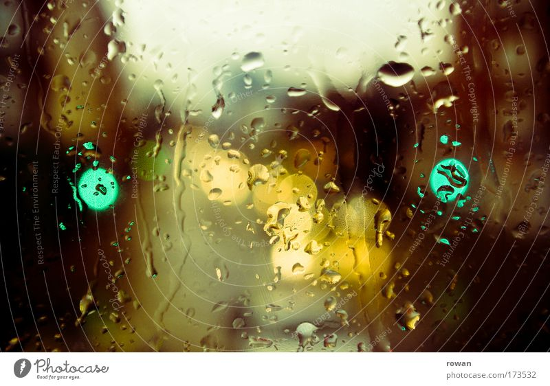 City Green Sadness Car Building Rain Road traffic Weather Wet Transport Driving Drop Climate Gale Manmade structures Thunder and lightning