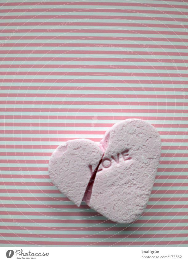 White Love Emotions Sadness Heart Pink Food Characters Broken End Stripe Sign Pain Delicious Candy Broken
