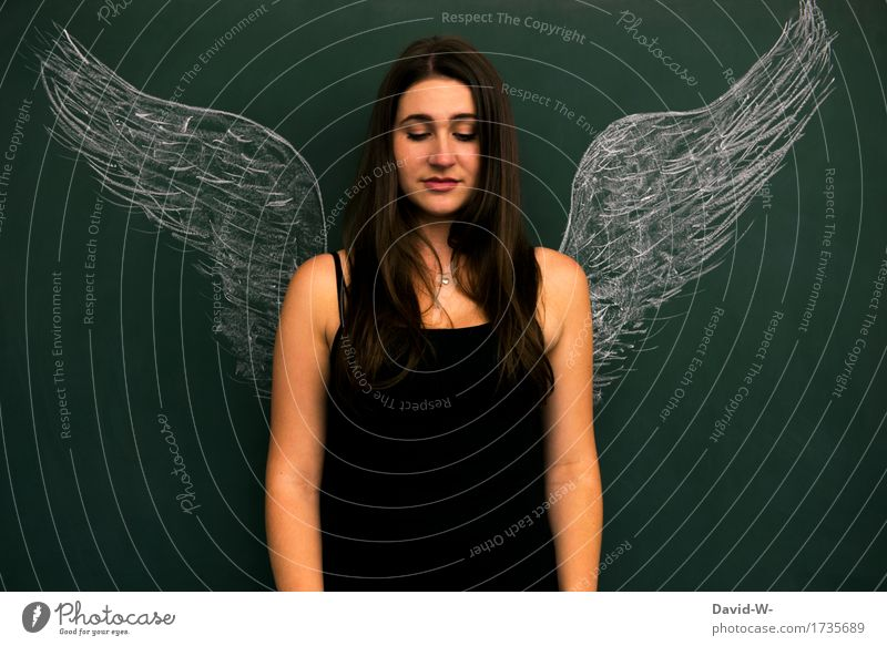 Woman as angel with wings Angel Grand piano angelic Innocent innocence Guardian angel Smooth dream Desire Christmas
