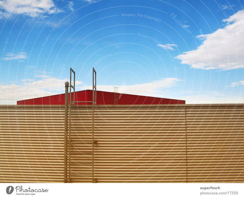 Sky House (Residential Structure) Clouds Architecture Roof Upward Ladder Fire ladder