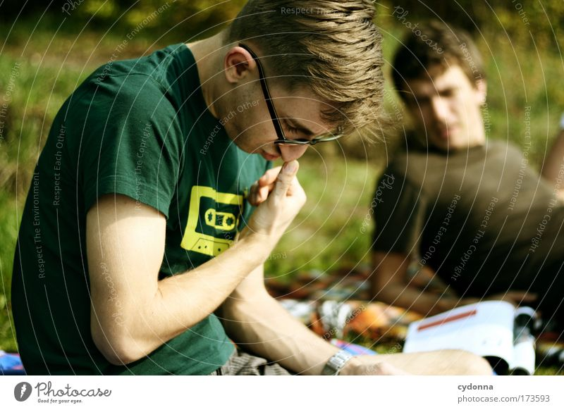 Human being Man Nature Youth (Young adults) Summer Calm Life Relaxation Group Dream Landscape Friendship Adults Exterior shot Environment