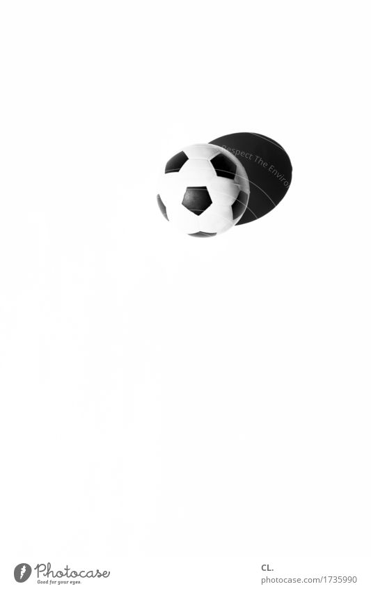 what was available / ball Leisure and hobbies Playing Children's game Sports Fitness Sports Training Ball sports Soccer Foot ball Round Black White Joy