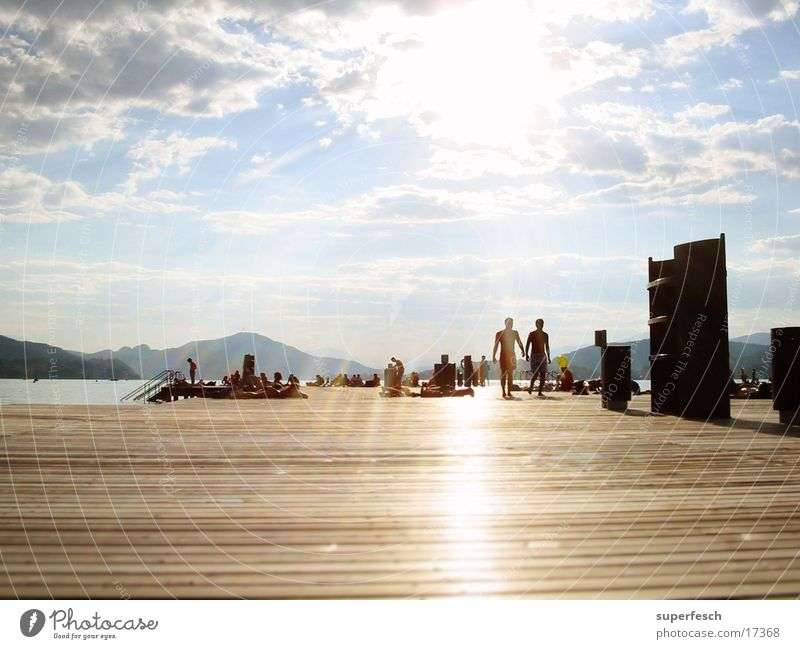 Summer Lake Europe Swimming & Bathing Footbridge Sunbathing Plank Federal State of Kärnten