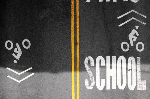 driving school Education Transport Traffic infrastructure Passenger traffic Cycling Street Lanes & trails Asphalt Colour Concrete Sign Characters