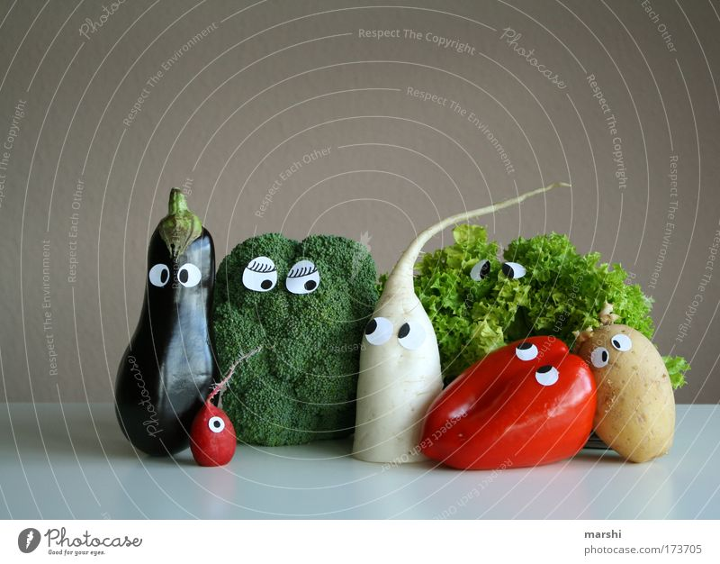 Face Eyes Nutrition Emotions Meal Food Fear Healthy Cool (slang) Living or residing Vegetable Delicious Vitamin Diet Organic produce Cabbage