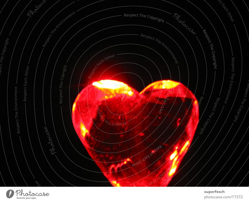 Red Love Lamp Warmth Heart Glittering Physics