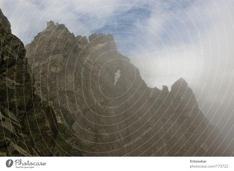 Nature Sky Clouds Mountain Landscape Fog Rock Alps Peak Fairytale landscape