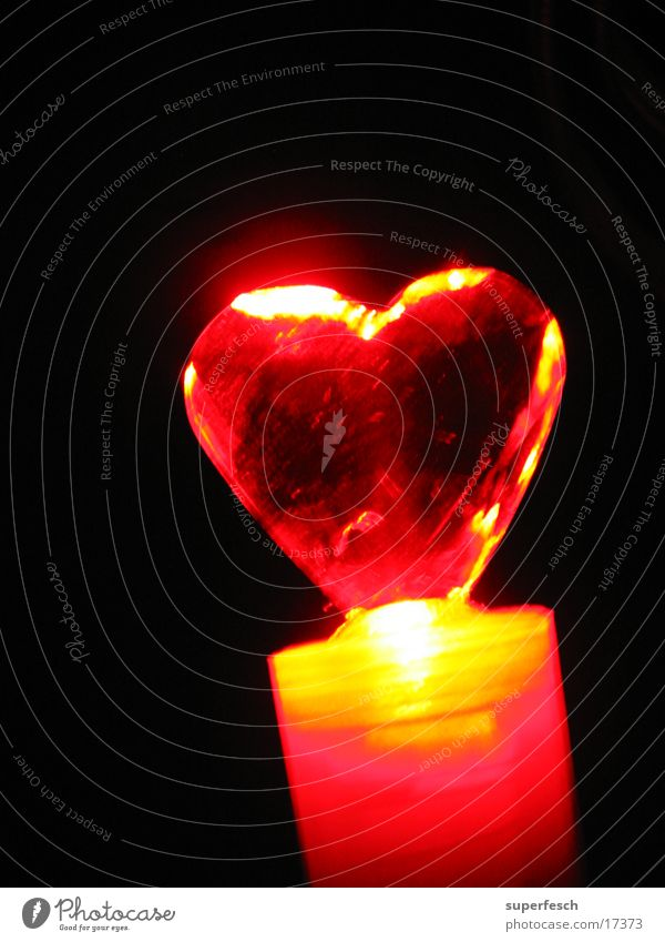 Let Love Rule (4) Lamp Warmth Heart Glittering Red Physics Colour photo Detail