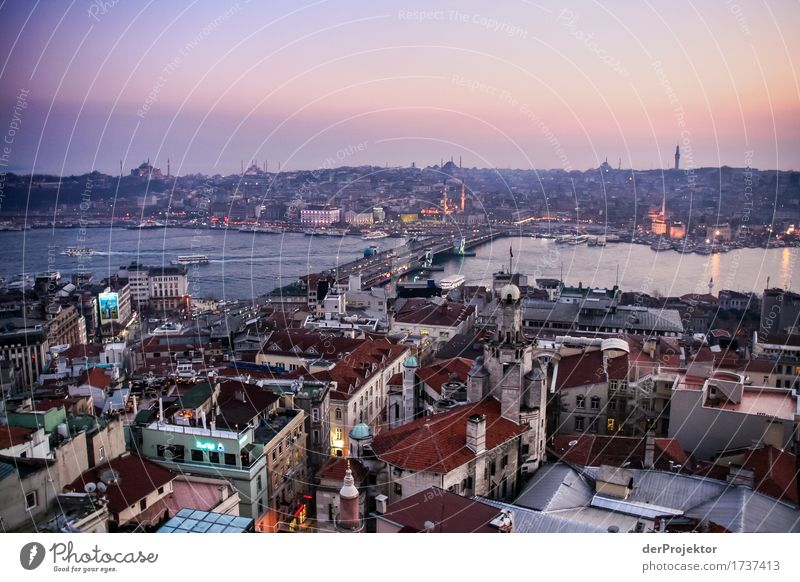 Sunset in Istanbul Vacation & Travel Tourism Trip Adventure Far-off places Freedom Sightseeing City trip Cruise Winter Port City Manmade structures Building