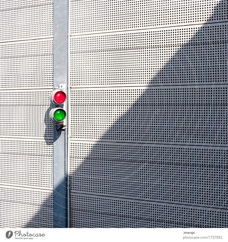 Green White Red Wall (building) Wall (barrier) Line Bright Metal Simple Safety Traffic light Resolve