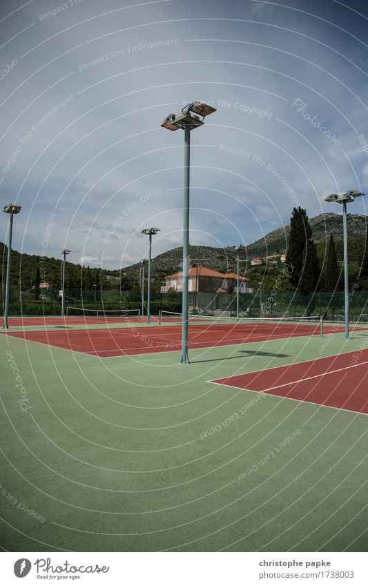 big tennis Luxury Leisure and hobbies Tennis Tennis court Sports Fitness Sports Training Ball sports Sporting Complex Colour photo Exterior shot Deserted Day