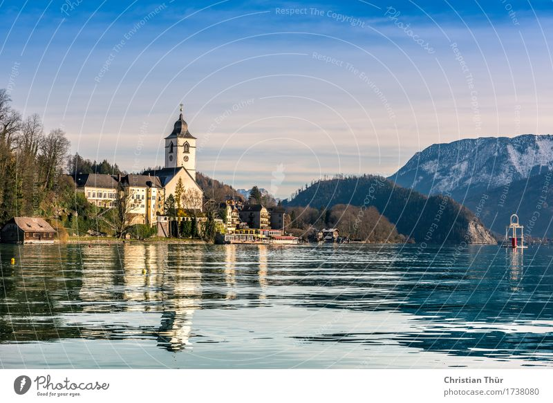 Lake Wolfgangsee Wellness Life Well-being Contentment Senses Relaxation Calm Meditation Vacation & Travel Tourism Trip Adventure Winter Snow Winter vacation