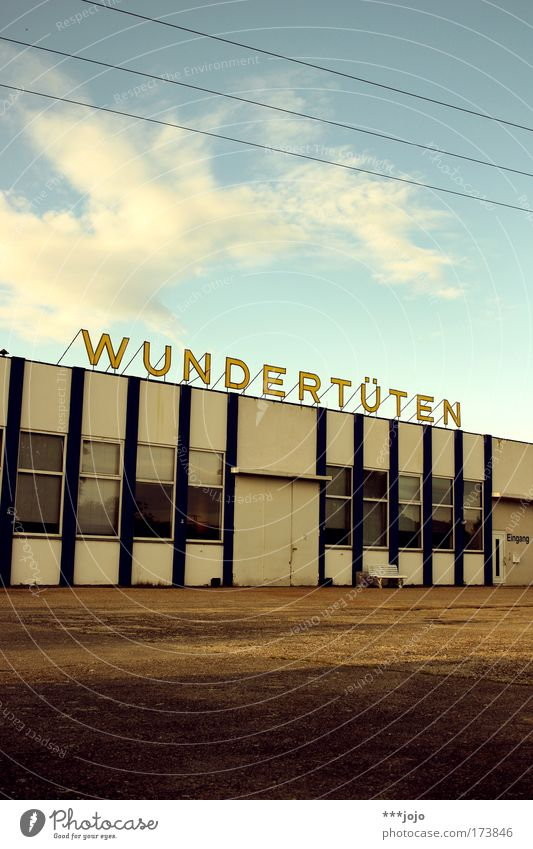 more wonder bags! Colour photo Exterior shot Day Evening Twilight Sunlight Happy Children's game Industrial plant Factory Building Characters Discover To enjoy