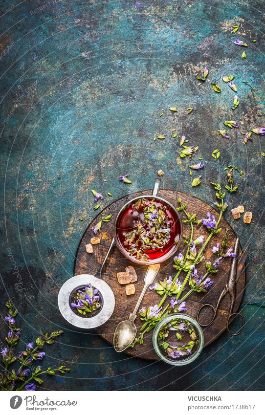 Nature Healthy Eating Life Style Healthy Food Design Glass Table Herbs and spices Beverage Fragrance Crockery Tea Cup Vintage