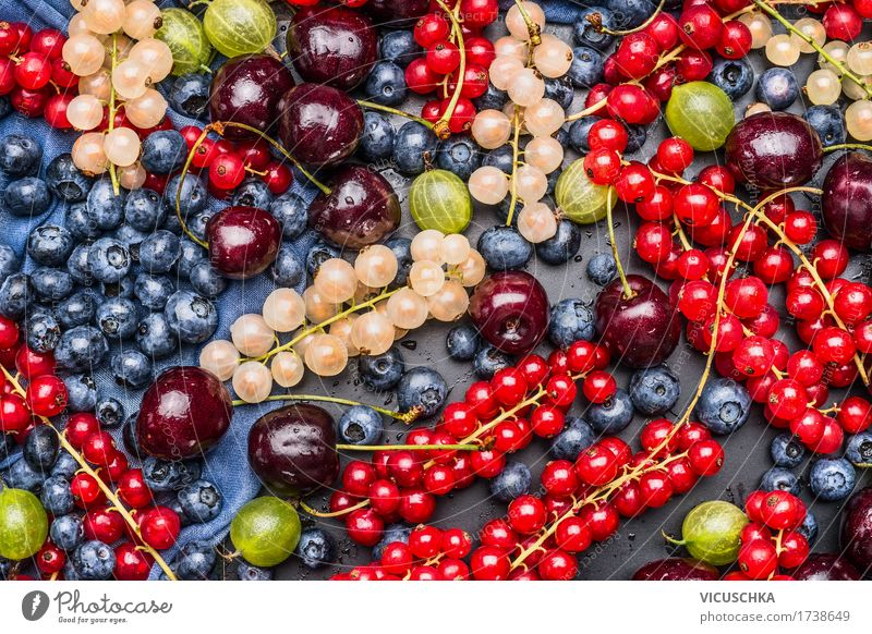 Different summer berries, background Food Fruit Dessert Nutrition Organic produce Vegetarian diet Diet Style Design Healthy Healthy Eating Life Summer Table