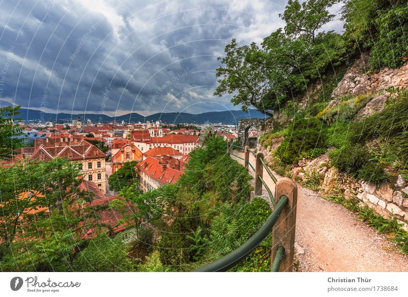 Graz Schlossberg Well-being Contentment Relaxation Calm Vacation & Travel Summer Summer vacation Environment Nature Landscape Autumn Beautiful weather Plant