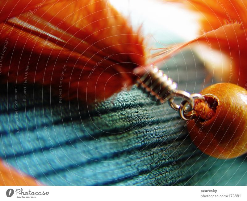 Blue Red Calm Colour Wood Dream Warmth Brown Metal Glittering Gold Soft Feather Warm-heartedness Cloth Jewellery
