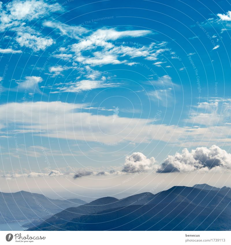 Sky Nature Blue Summer White Landscape Clouds Far-off places Mountain Freedom Horizon Weather Air Vantage point Beautiful weather