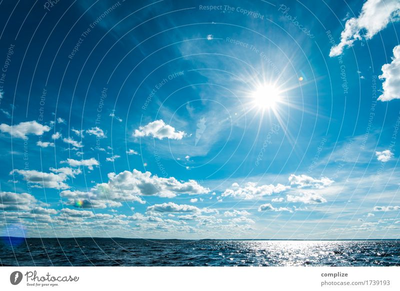 Sky Nature Vacation & Travel Summer Water Sun Ocean Relaxation Clouds Joy Far-off places Beach Environment Sports Coast Freedom