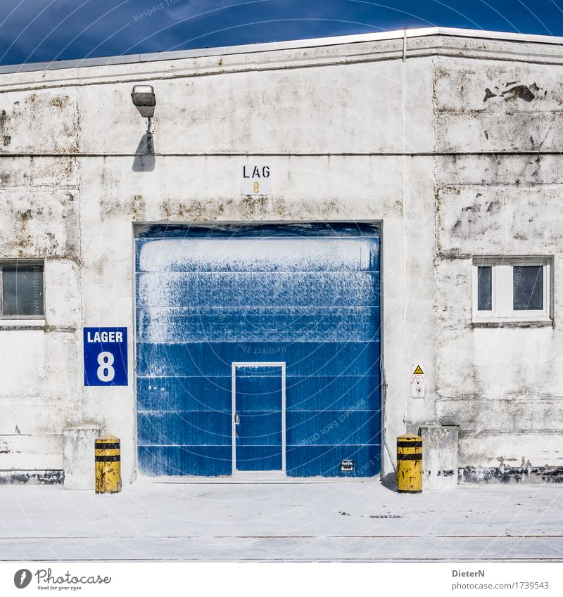 Blue White Architecture Yellow Building Stone Door Concrete Industry Manmade structures Gate Storage Warehouse Flour Depot Grain silo