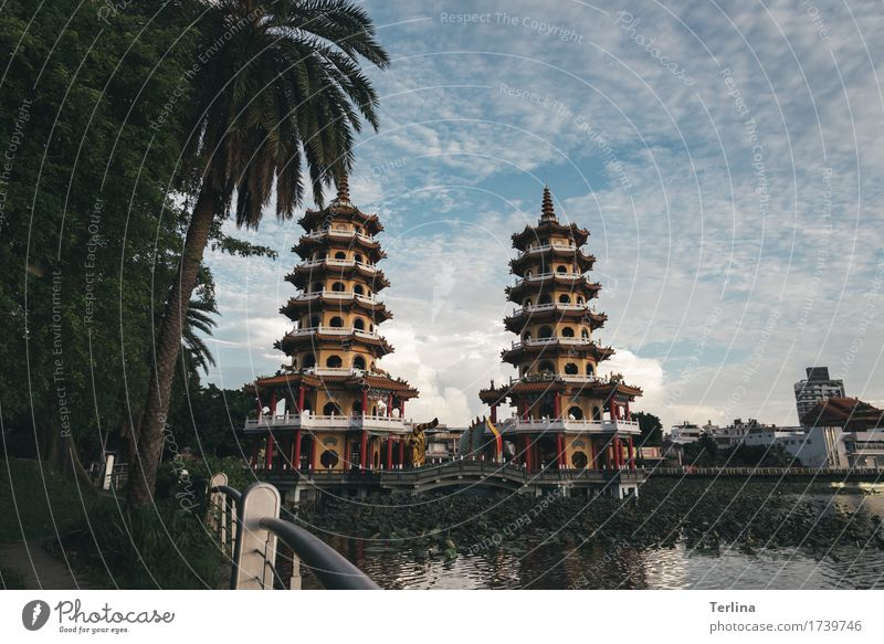 point of view Beautiful weather Town Architecture Tourist Attraction Dragon and Tiger Pagodas Observe Going To enjoy Looking Authentic Exceptional Famousness