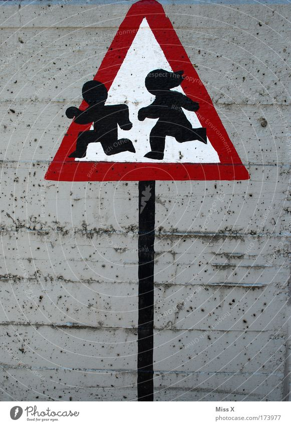Human being Child Girl Boy (child) Wall (building) Playing Wall (barrier) Walking Signs and labeling Safety Protection Catch Infancy Signage Kindergarten