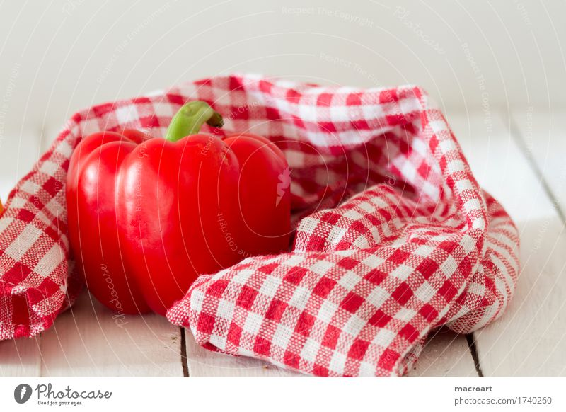 paprika Red Pepper Husk Vegetable Mature Fresh Fruit Close-up Dish Eating Food photograph Nutrition Raw Healthy Healthy Eating Vitamin Dish towel Rag Towel