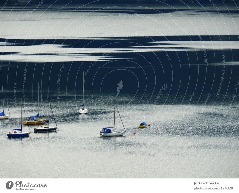 Morning Has Broken Watercraft Lake Body of water moon lake Salzkammergut Sailing Sailboat Peaceful Smoothness Idyll Vacation & Travel Waves Summer Calm