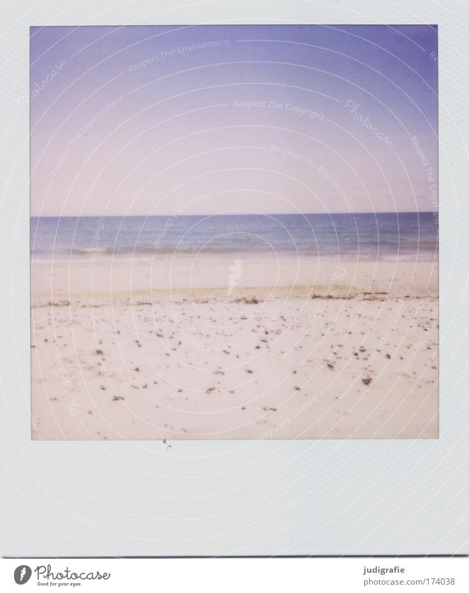 Baltic Colour photo Exterior shot Polaroid Deserted Day Environment Nature Landscape Coast Beach Baltic Sea Vacation & Travel Calm Relaxation Horizon Sky