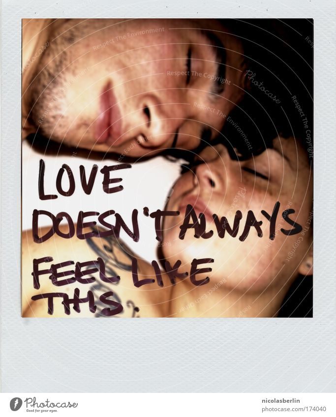 Human being Polaroid Youth (Young adults) Love Couple Friendship Skin Adults Pain Partner 18 - 30 years