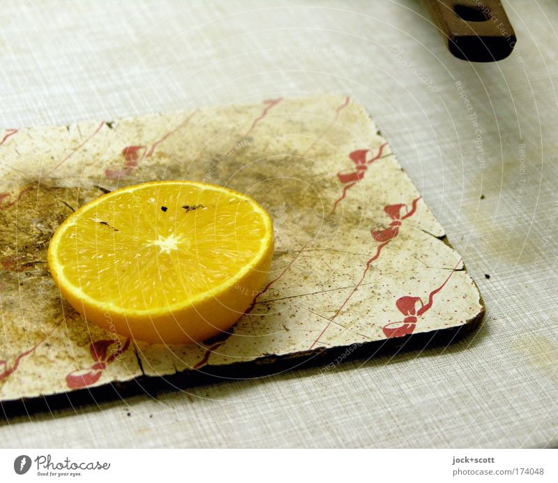 decoy in the kitchen Yellow Healthy Lie Food Fruit Dirty Fresh Living or residing Nutrition Clean Kitchen Whimsical Bizarre Trashy Slice Lemon