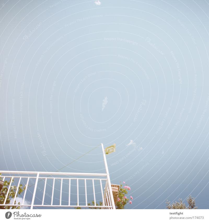 Blue Summer Vacation & Travel Happy Dream Warmth Contentment Moody Joie de vivre (Vitality) Village Balcony Terrace Ease