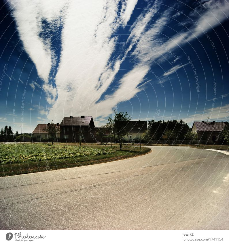 Sky Tree Clouds House (Residential Structure) Window Street Grass Building Exceptional Germany Horizon Transport Field Illuminate Bushes Dangerous