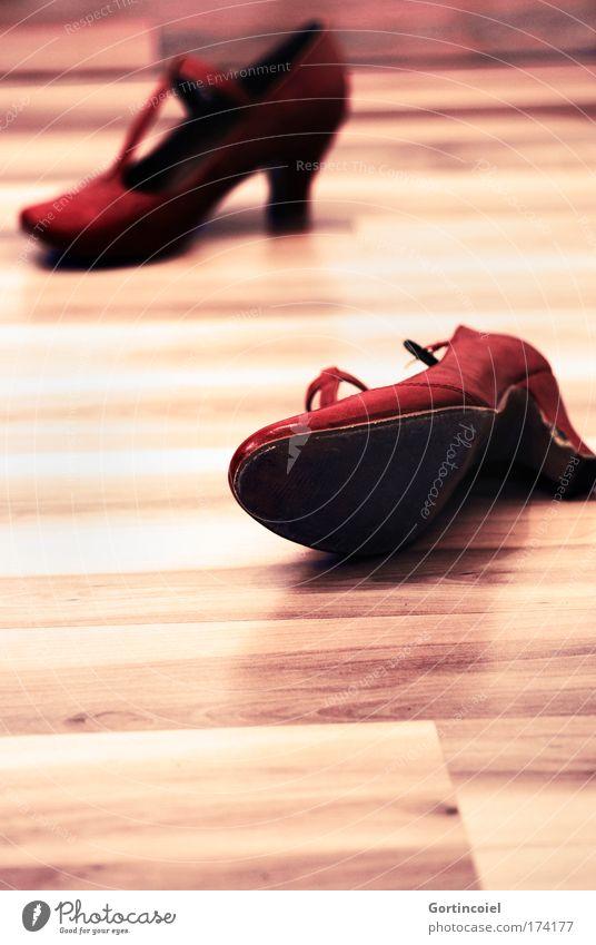 Red Feminine Style Fashion Footwear Elegant Hip & trendy Leather Wooden floor Parquet floor High heels Heel of a ladies' shoe Dancing shoes