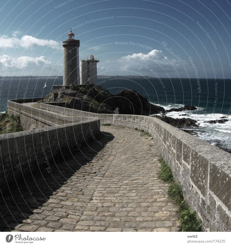 Nature Water Old Sky Ocean Clouds Far-off places Freedom Stone Landscape Air Waves Brittany Environment Horizon Trip
