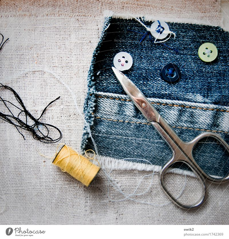 Don't lose the thread Tool Scissors Collection weather sheet Denim Sewing thread String Stitching Metal Plastic Work and employment Thin Authentic Firm Small