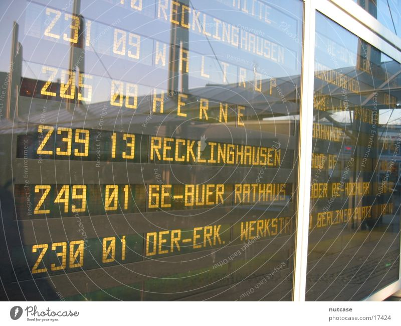 departure board Transport Bus Train station Display